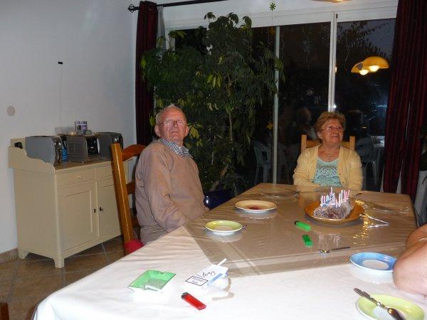 anniversaire d'olivia avec mamy paulette et papy roger