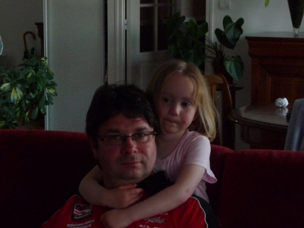 romane je t'aime très fort papa chéri