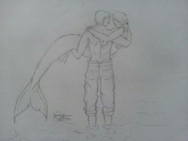 l'homme et sa sirène