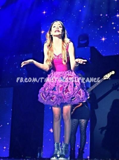 Martina a son concert au Paraguay