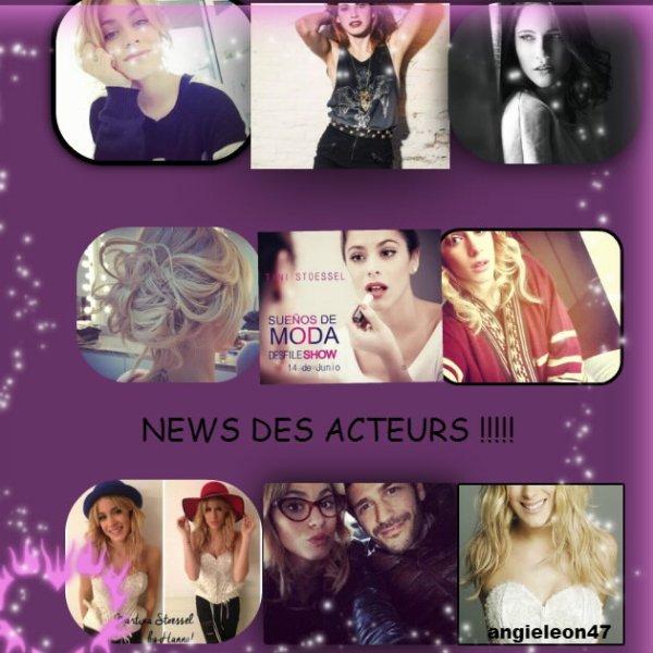 news des acteurs !!!!!!