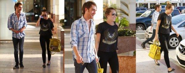 Photos : Miley et un ami à Studio City