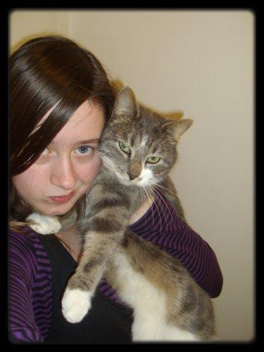 moi et mon chat adorer