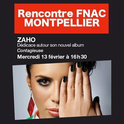 Zaho à la fnac de Montpellier le mercredi 13 février !