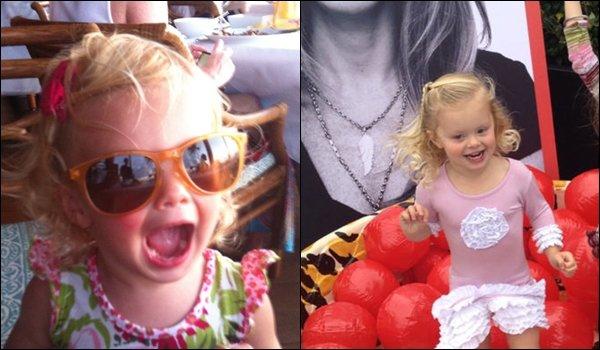 • • Voici deux photos provenant du twitter de David c'est sa fille Bella Boreanaz ! N'est-t-elle pas mignonne ?   • •
