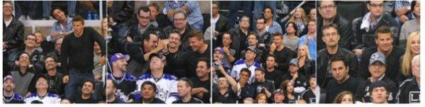 • • Le 4 juin, David et sa femme Jaime étaient à un match de Hockey.  David & le Hockey : une grande histoire lol.  • •