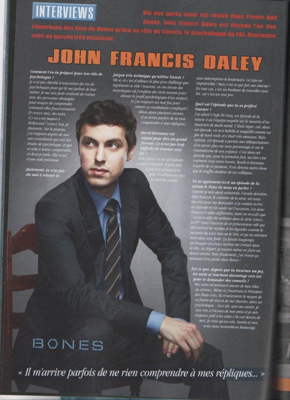 • •  Interview de John Francis Daley du dernier séries mag paru (  Scan fait par moi )  • •
