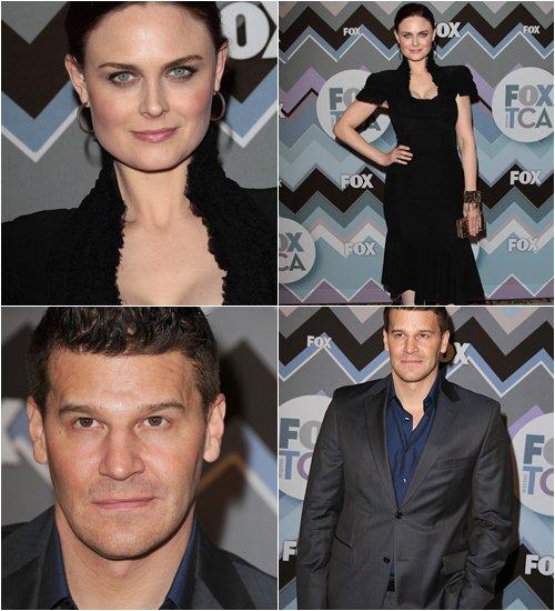 • •  Le 8 Janvier, Emily,David, Michaela et Tamara étaient à la Fox TCA Winter Party.  • •