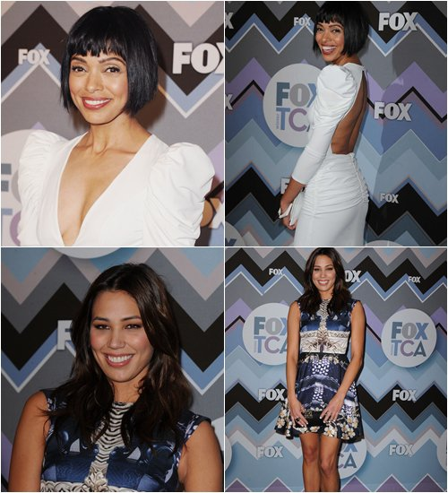 • •  Le 8 Janvier, Emily,David, Michaela et Tamara étaient à la Fox TCA Winter Party.  • •