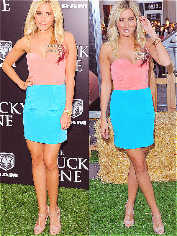 "-16/04/12 :  Ashley etait presente a l'avant-premiere du film "" The Lucky One "" a Los Angeles. Top ! -"