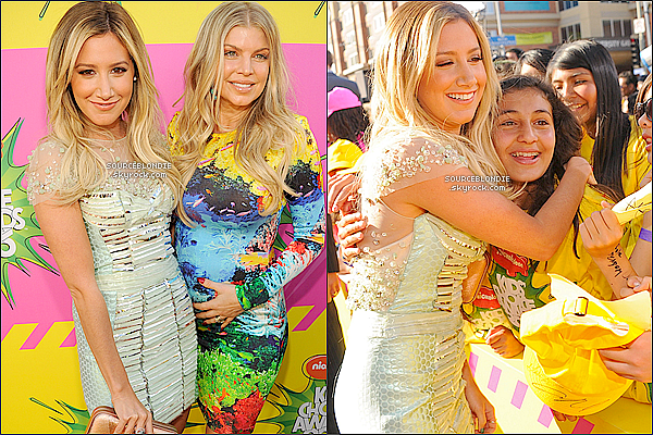 -23/03/13 →  Ashley Tisdale était présente aux KIDS CHOICE AWARDS 2013 a Los Angeles. TOP ! -
