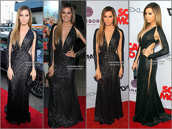-11/04/13 → Ashley etait a l'avant-premiere de son film Scary Movie 5 a Los Angeles avec son boy' ! + Cote tenue, Ashley est magnifique avec cette belle robe noir. Beautifull ♥ Rien a dire. TOP ! Ton avis sur la tenue ? Dit moi. -