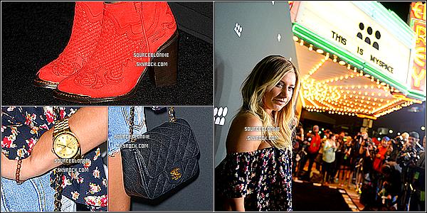 - 12/06/13 → Ashley Tisdale a été repéré au lancement du nouveau Myspace a Los Angeles. Top et vous ? -