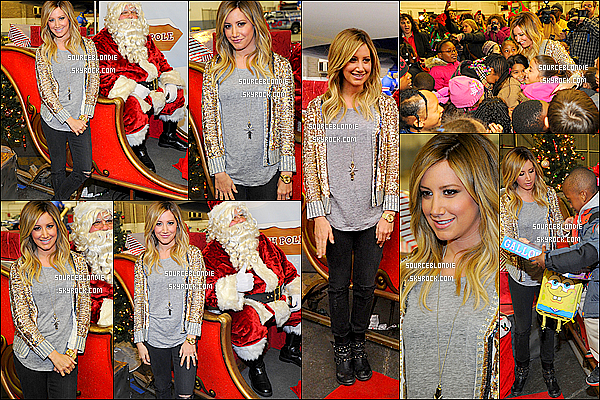- 04/12/13 → Ashley a participé à une oeuvre de charité « Holiday Flight to The North Pole Event » à New York. -