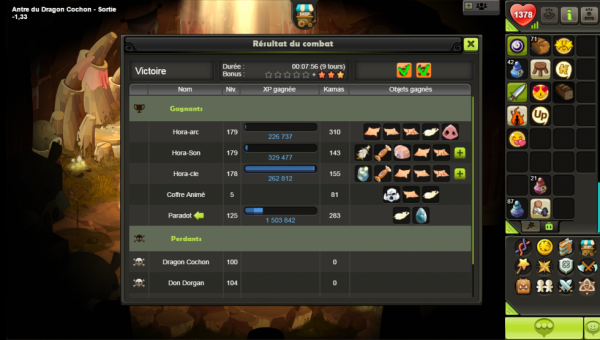 My first drop Turquoise Dofus Touch +16 Thanks Hora