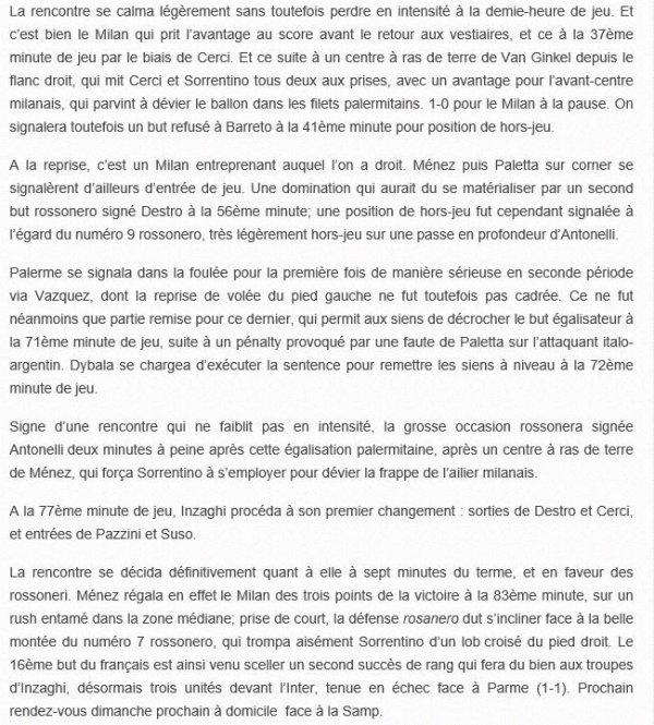 2014 Série A J29 PALERME AC MILAN 1-2, le 04/04/2015