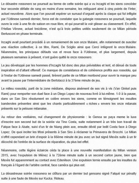 2014 Série A J33 AC MILAN GENOA 1-3, le 29/04/2015