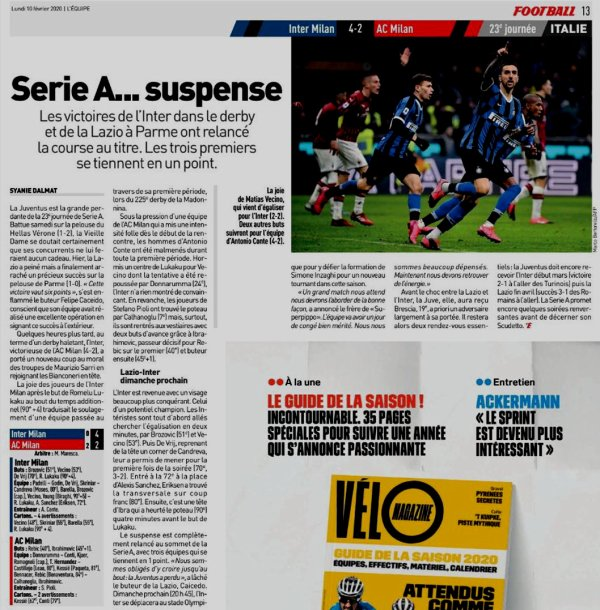 2019 Série A J23 INTER AC MILAN 4-2, le 09/02/2020