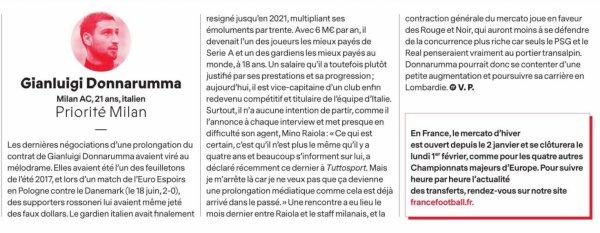 2020 MERCATO HIVERNAL : un GIANLUIGI FIDELE , le 05/01/2021