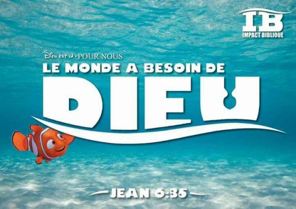 Le monde a besoin de Dieu