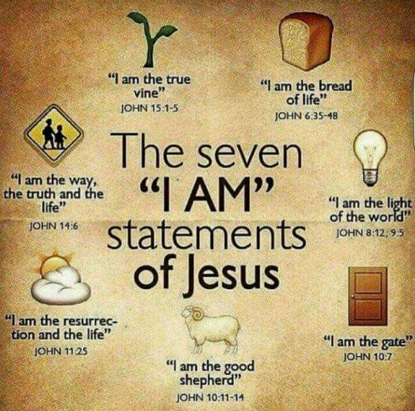 """Les 7 """" Je suis """" de Jésus"""