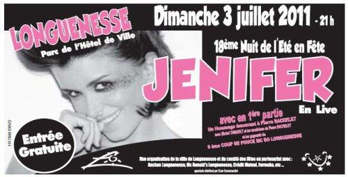 Jenifer en concert à Longuenesse le 3 Juillet 2011