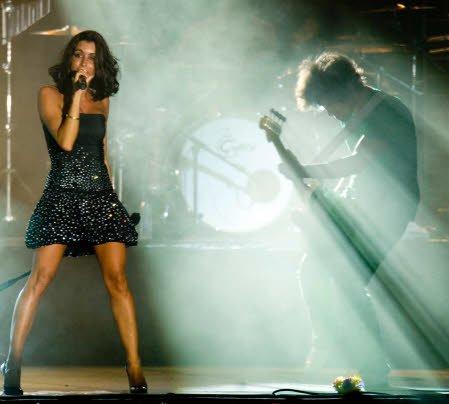 Jenifer en concert le 20 août 2011 à Lanfains (22) - Festival du petit village