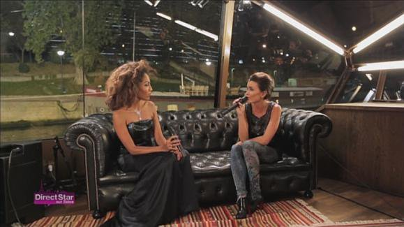 Jen sur Direct Star le 23 Décembre. Duos avec Christophe Willem en bateau mouche sur la Seine.