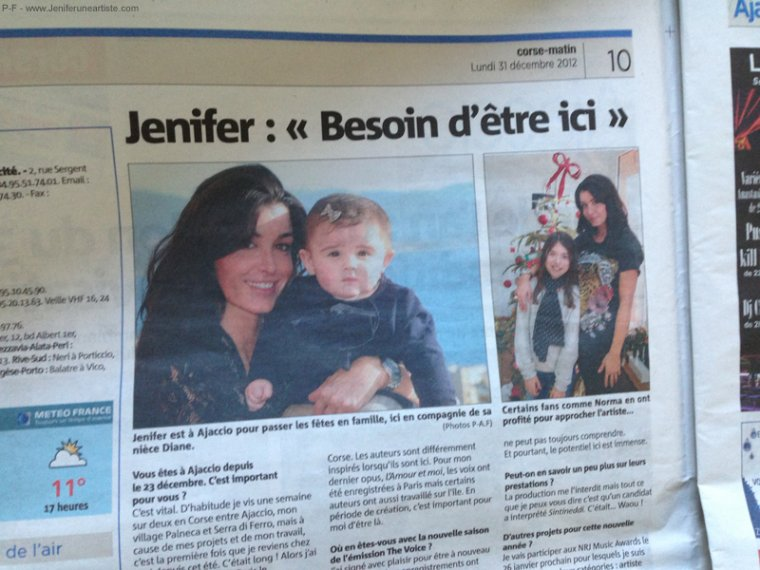 JEN, DANS LE CORSE MATIN DU 31 DECEMBRE 2012 !