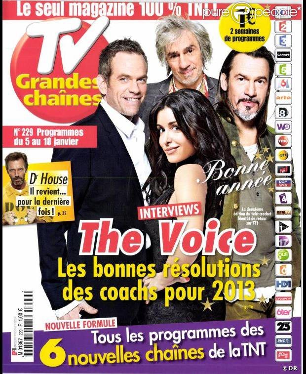 TV Grandes chaines en kiosques le 31 décembre 2012