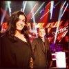 Photo publiée par Nikos : Garou & Jen sur le plateau de The Voice !