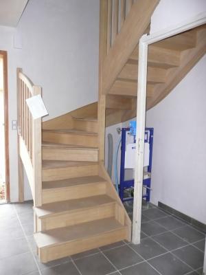 l 39 escalier chantier construction maison en bretagne. Black Bedroom Furniture Sets. Home Design Ideas