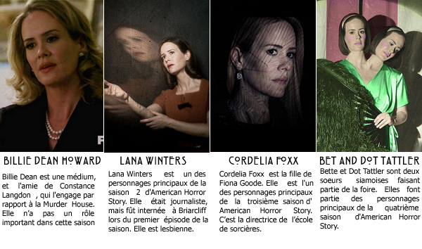 American Horror Story :_Personnages principaux_
