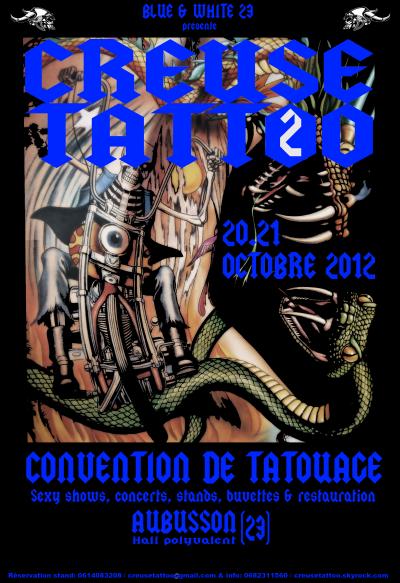 Creuse Tattoo 2 Aubusson le 20 et 21 octobre 2012