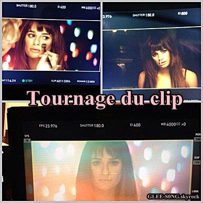 Léa Michèle dévoile quelques photos de son tournage pour son prochain clip .