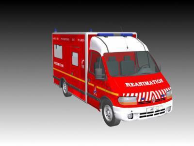 Dessin d 39 une vsav de la bspp sapeurs pompiers volontaire - Dessiner un camion de pompier ...