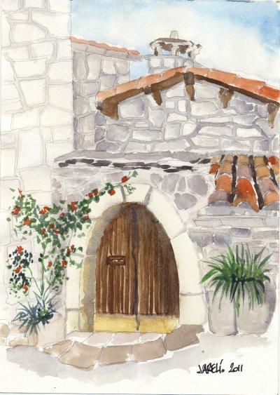 Maison de liaucous aquarelle vareli for Aquarelle maison