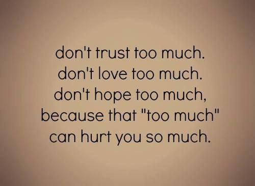 La confiance est vitale. ❤