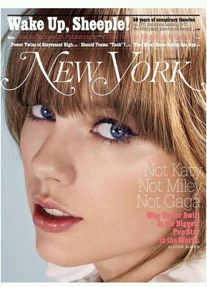 Taylor Swift pose pour la couverture du magazine New York !!