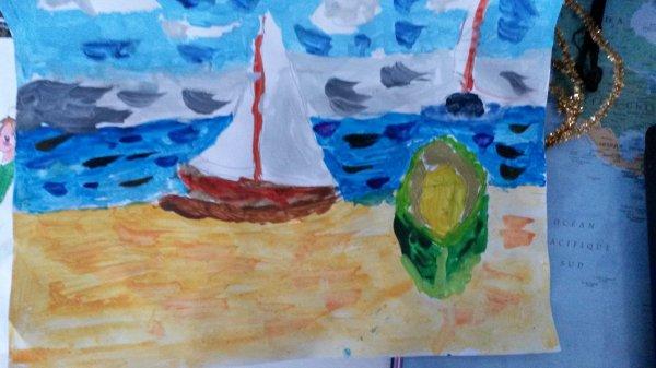 Une autre peinture...Que j'ai fait hier et dont je suis fière
