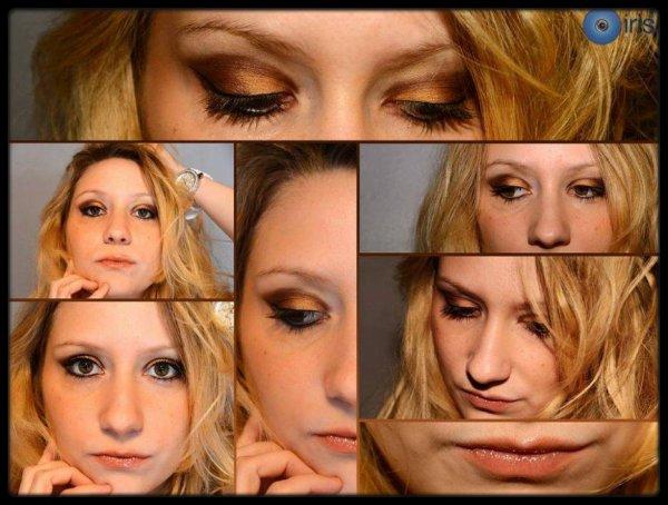 Maquillage orangé