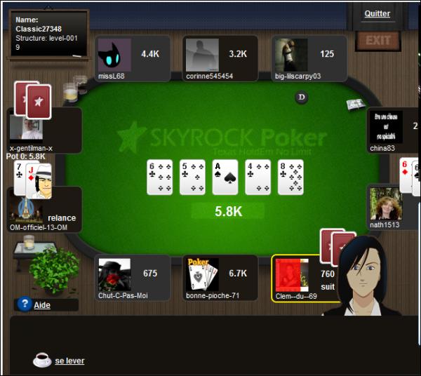 SKYROCK Poker bêta