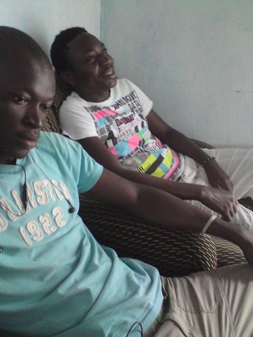 moi et le champargne D'Abidjan