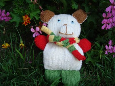 Un doudou en tricot