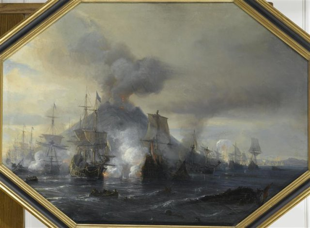 Stromboli - de Gudin - peinture de 1844, huile sur toile (58 cm X 80 cm)