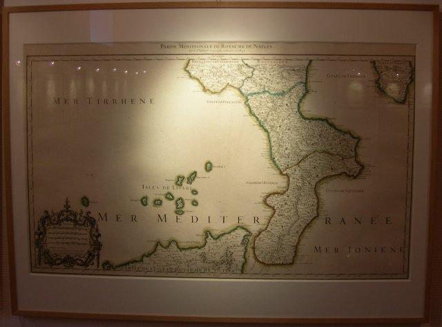 carte des îles éoliennes de 1706