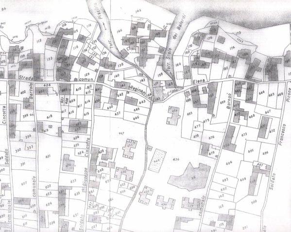 Stromboli - plan cadastral d'une partie du quartier de Piscitá