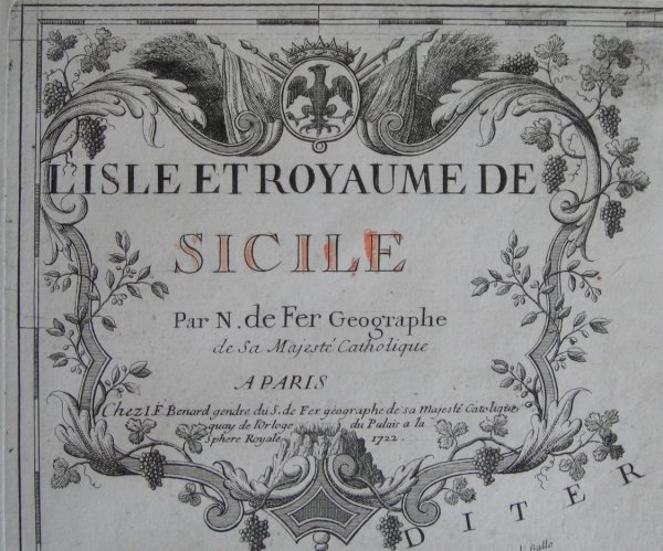 carte de la Sicile de 1722 (2/4)