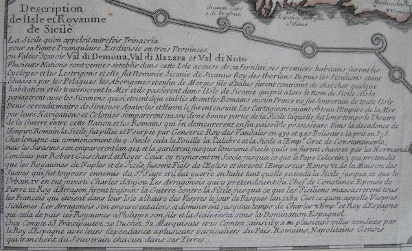 carte de la Sicile de 1722 (3/4)