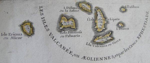 carte de la Sicile de 1722 (4/4)